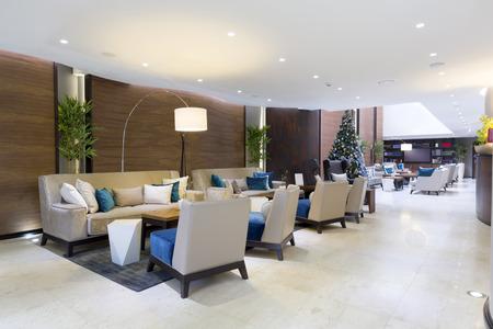 Modern luxury hotel lobby Stok Fotoğraf - 35466799