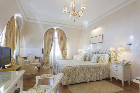 Interior of a classic style luxury bedroom