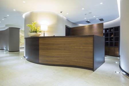 hotels building: Modern reception desk