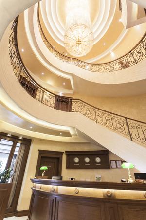 chandelier: Luxury hotel reception desk chandelier