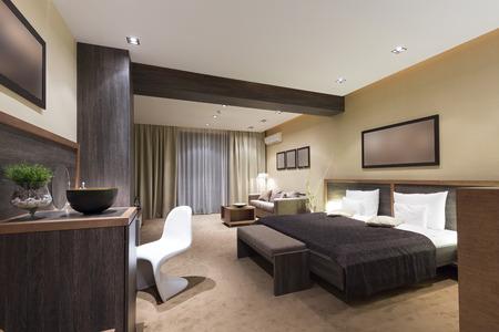 Modern luxury bedroom interior 스톡 콘텐츠