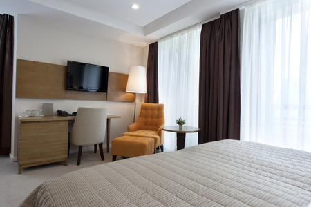 Elegant bedroom interior photo