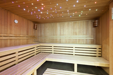 ambient: Modern sauna with ambient lights