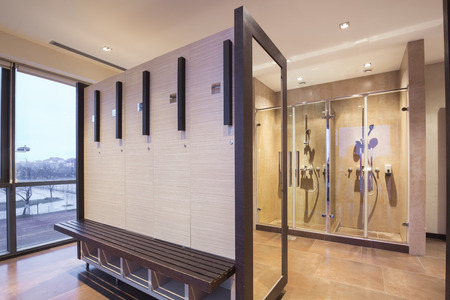 Fitness and spa locker and shower room