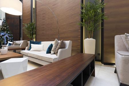 Modern hotel lobby interior Stock Photo
