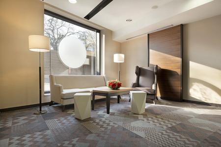 Elegant hotel lobby interior