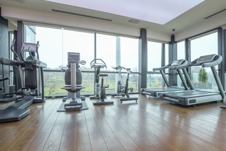 cardio fitness: Modern gym interior