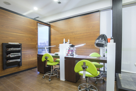 Pedicure station in moderne beauty spa Stockfoto