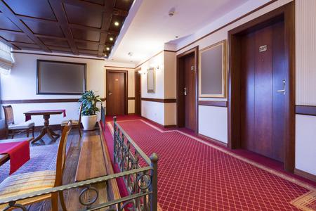 Corridor in elegant hotel photo