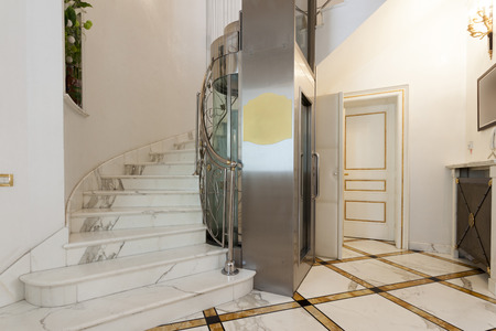 Elevator in luxury villa