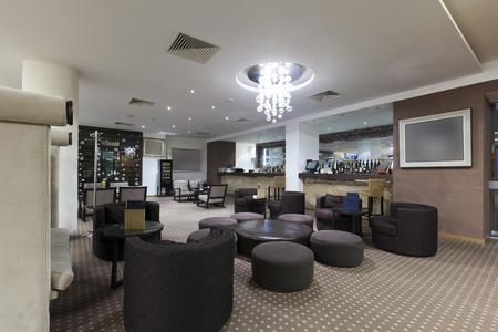 hotel bar: Modern hotel bar