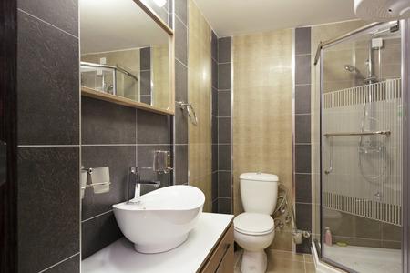 bathroom: Hotel bathroom interior Stock Photo