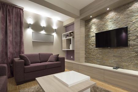 hotel suite: Modern luxury apartment interior