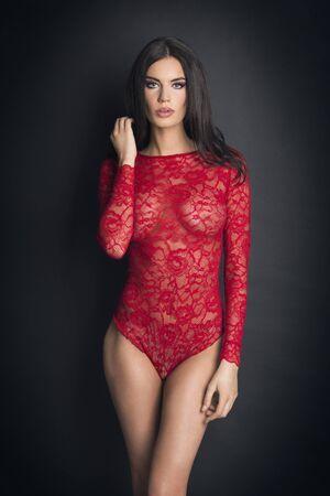undergarments: Beautiful woman in lace lingerie