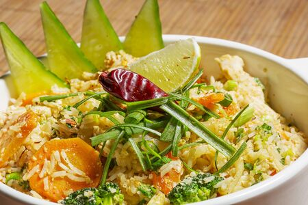 brocoli: Thai Khao Pad - special fried rice with mixed vegetables, egg and thai seasoning sauce