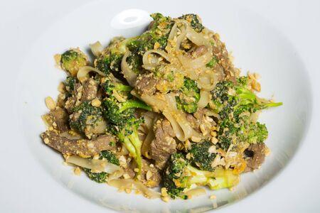 stir fry: Thai Pad Satay - stir fry with broccoli and noodles