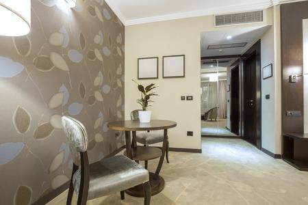 modern wallpaper: Elegant hotel room interior