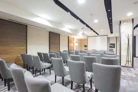Modern presentation room interior