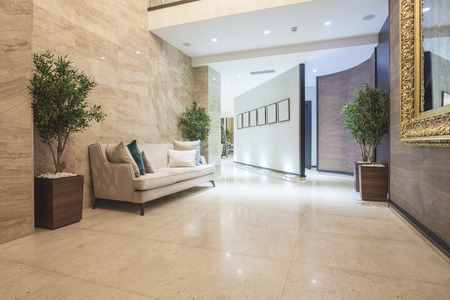 Elegante luxe hotel corridor Stockfoto - 37754355