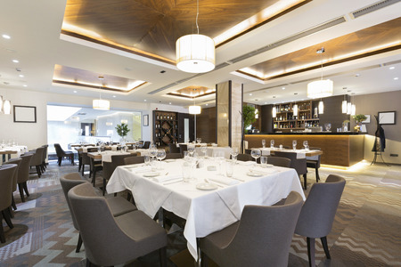 Elegant restaurant interior Stockfoto