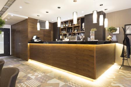 hotel bar: Bar in a restaurant Stock Photo