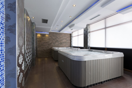 hydromassage: Hot tubs in spa center