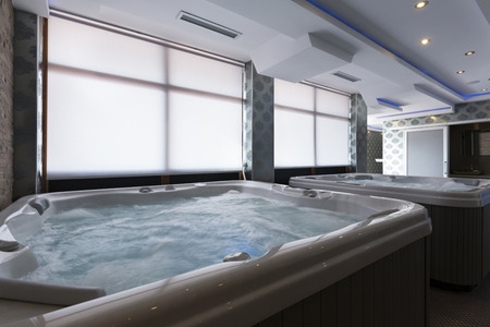 hydrotherapy: Hot tubs in spa center