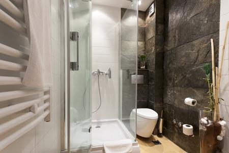cabaña: Moderno baño interior