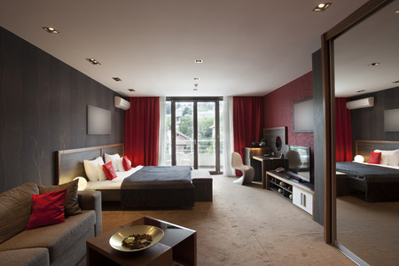 room wallpaper: Modern spacious hotel room