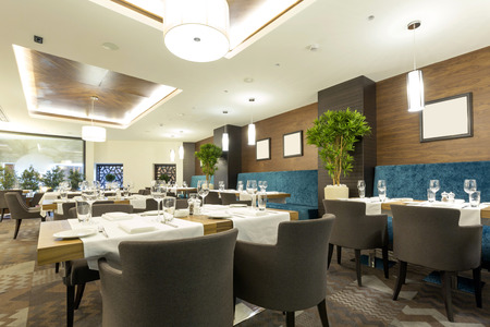 Elegant restaurant interior Banco de Imagens