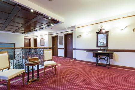 elegant staircase: Elegant hotel corridor Stock Photo