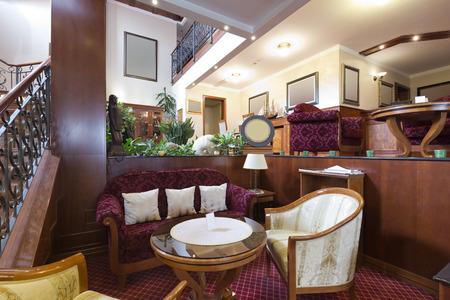Fancy Hotel Lobby Interior Photo