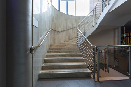 elegant staircase: Stairs in a building