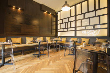 luxury restaurant: Modern asian restaurant interior