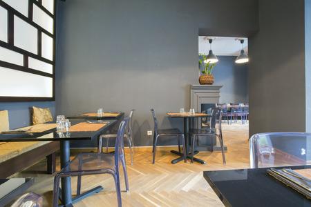 modern dining room: Modern asian restaurant interior