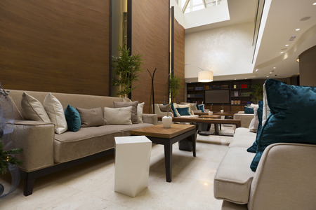 Elegant hotel lobby Imagens