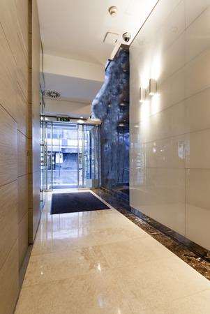 Modern building entrance hall