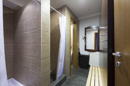 shower cubicle: Shower room at spa center