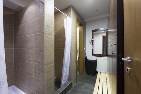 Shower room at spa center