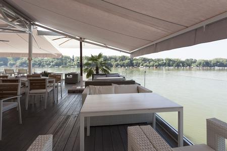 riverside: Riverside cafe terrace