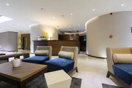 spacious: Modern luxury hotel lobby