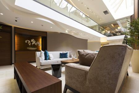no entrance: Modern luxury hotel lobby