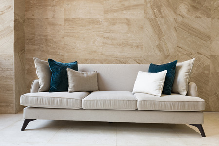 sofa: Sofa in building corridor Stock Photo