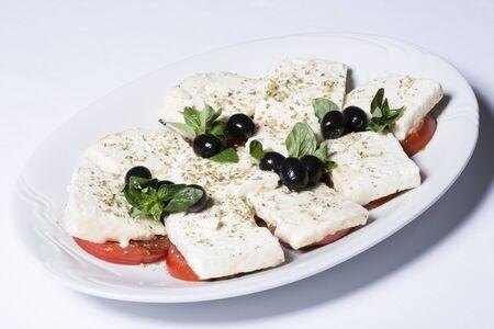 queso blanco: Tomate y ensalada de queso blanco