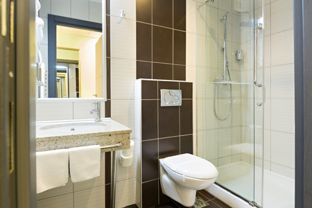 Hotel bathroom interior Stockfoto
