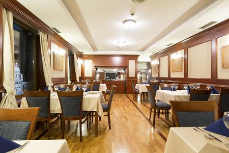Elegant restaurant interior Imagens