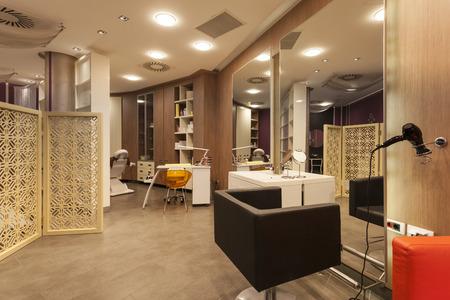 hair dryer: Beauty salon interior