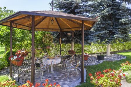 gazebo: Beautiful garden with gazebo