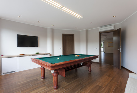 pool room: Pool room with tv