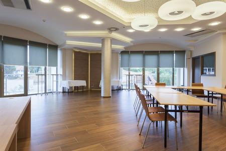 spacious: Spacious conference room interior Stock Photo
